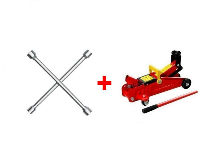 Buy Combo Of 4 Way Spanner And Hydraulic Trolly Jack online