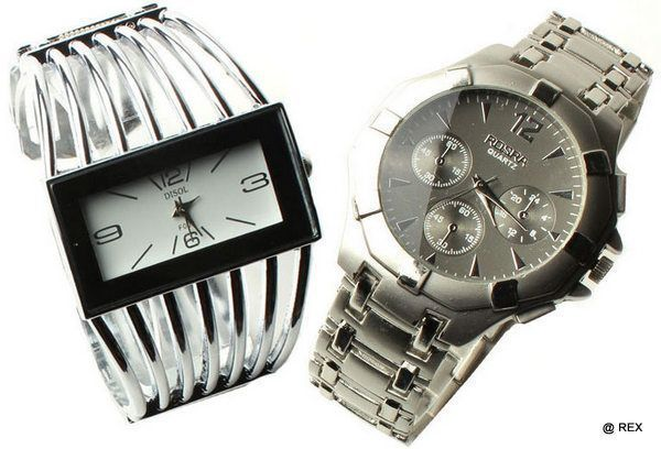 Buy Stylish Combo - Mens Watch And Womens Watch -052 online