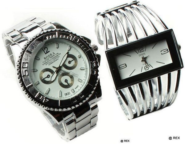 Buy Stylish Combo - Mens Watch And Womens Watch -056 online