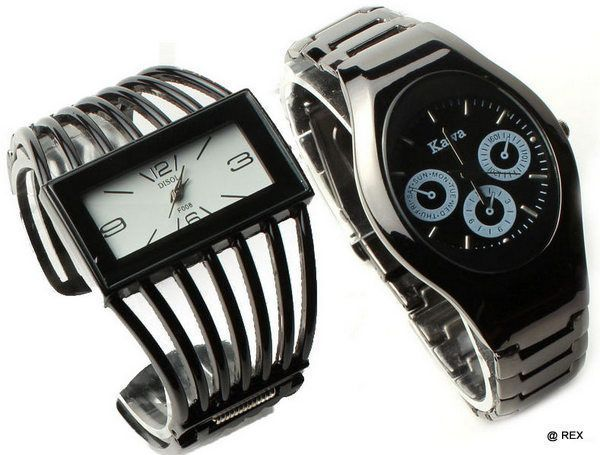Buy Stylish Combo - Mens Watch And Womens Watch -072 online