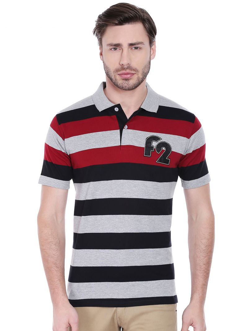 Buy Fitz Mens Polyester Cotton T-shirt (product Code - A16ts7008ebl) online