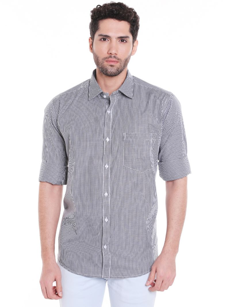 Buy Solemio Poly Cotton Shirt For Mens online