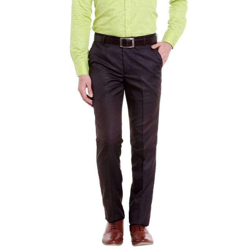 Buy Solemio Poly Viscose Trouser For Mens online