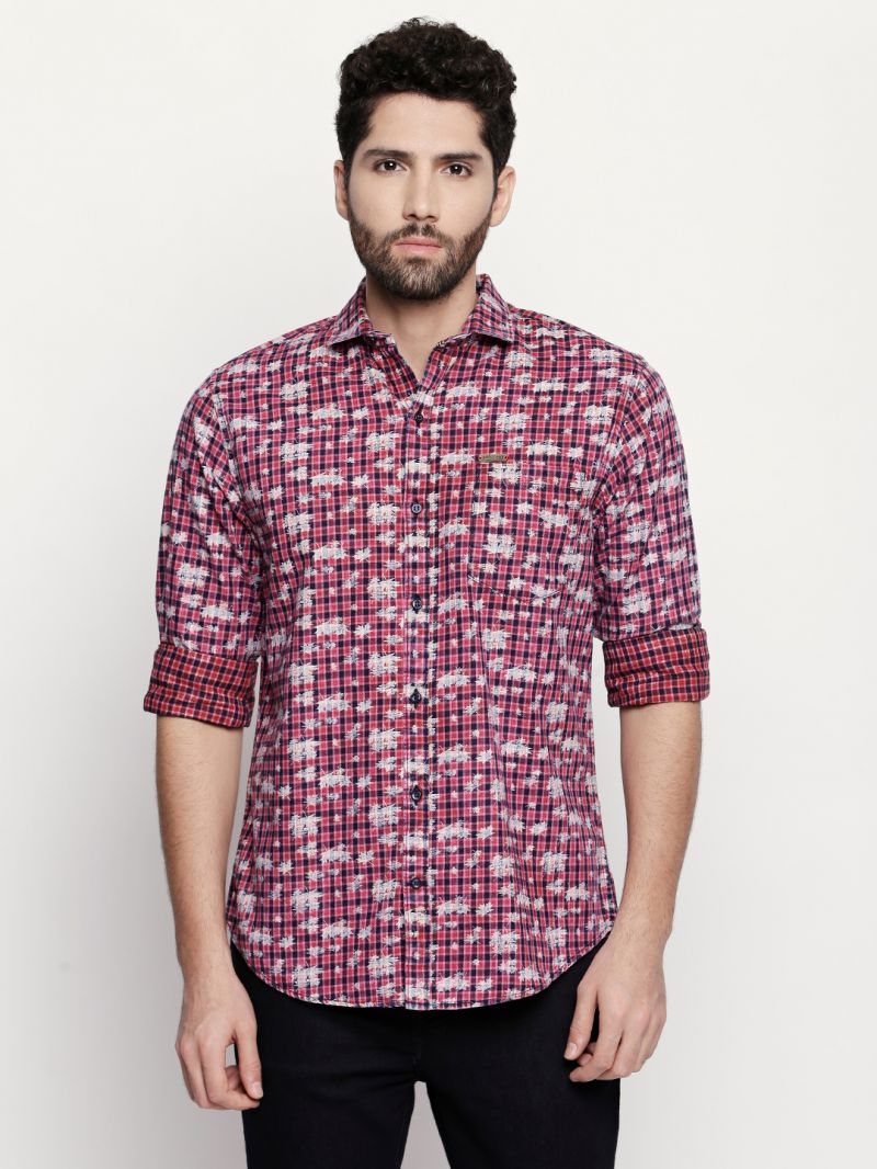 Buy Solemio Pink Shirt For Mens (code - A18sh1001rd) online