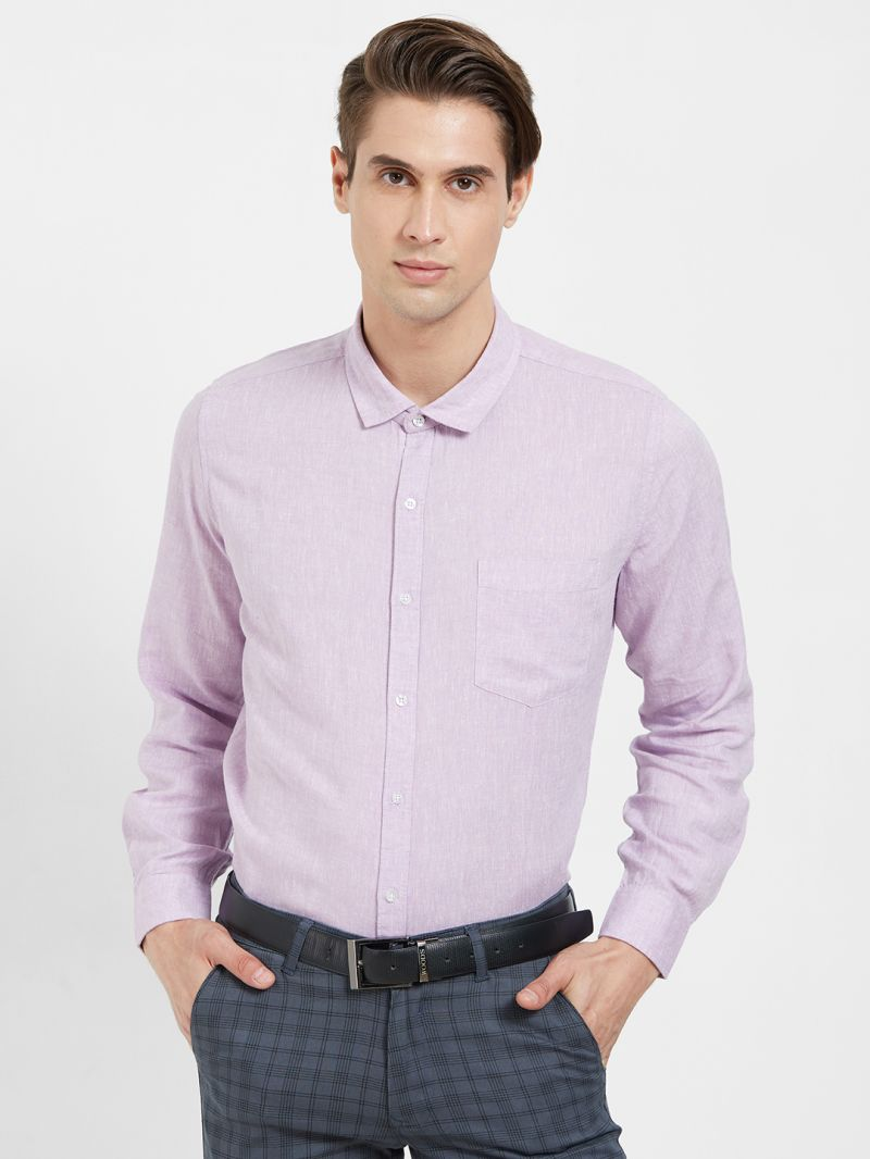 Buy Solemio Cotton Linen Blend Shirt For Mens online