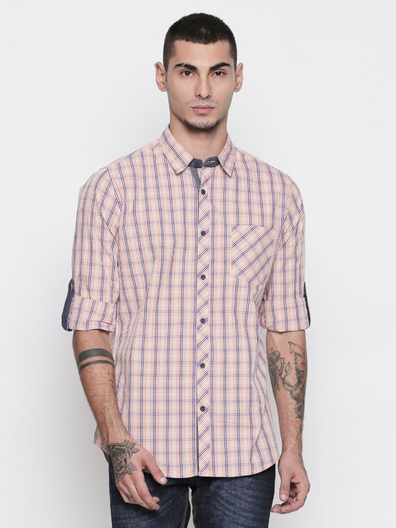 Buy Solemio 100% Cotton Multi Color Shirt For Mens online