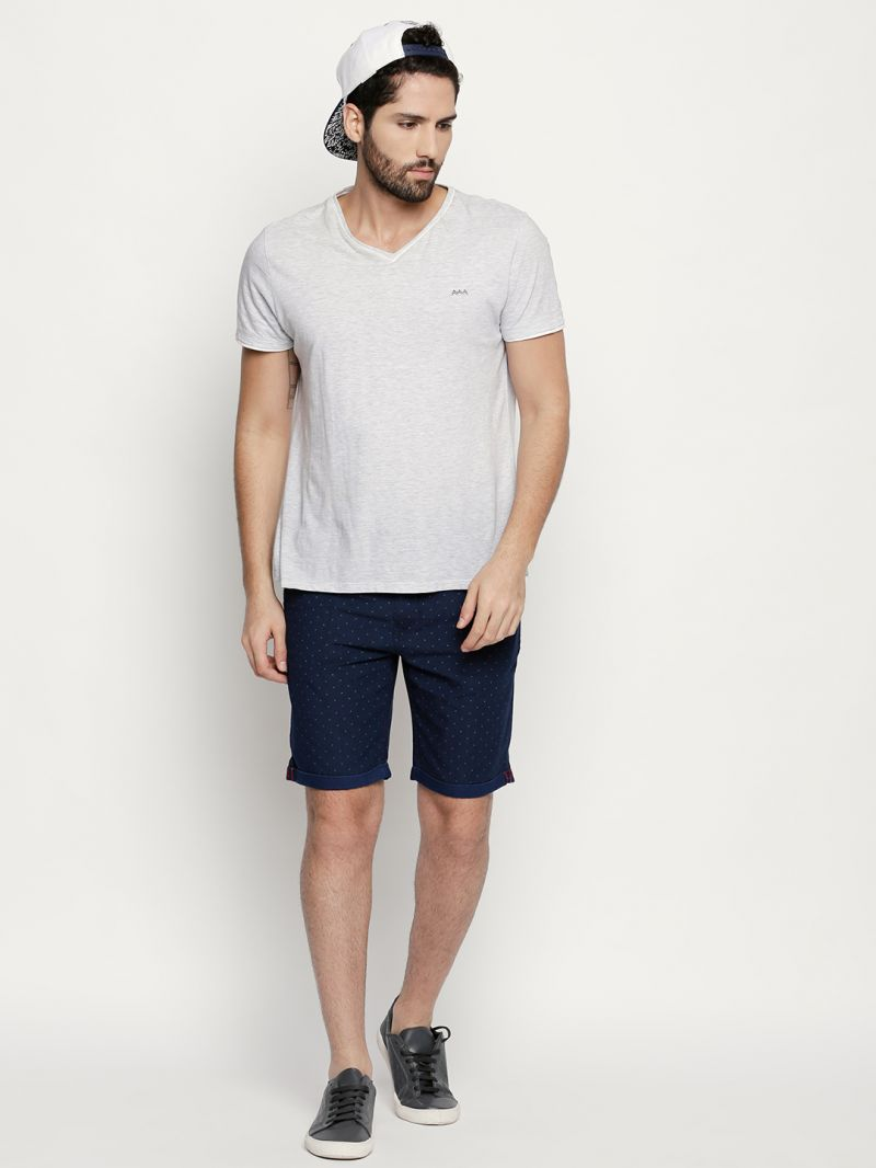 Buy Fitz Navy Blue Cotton Shorts For Mens Online Best Prices In Tendencies Tshirt Washed Pocket Nv S 25