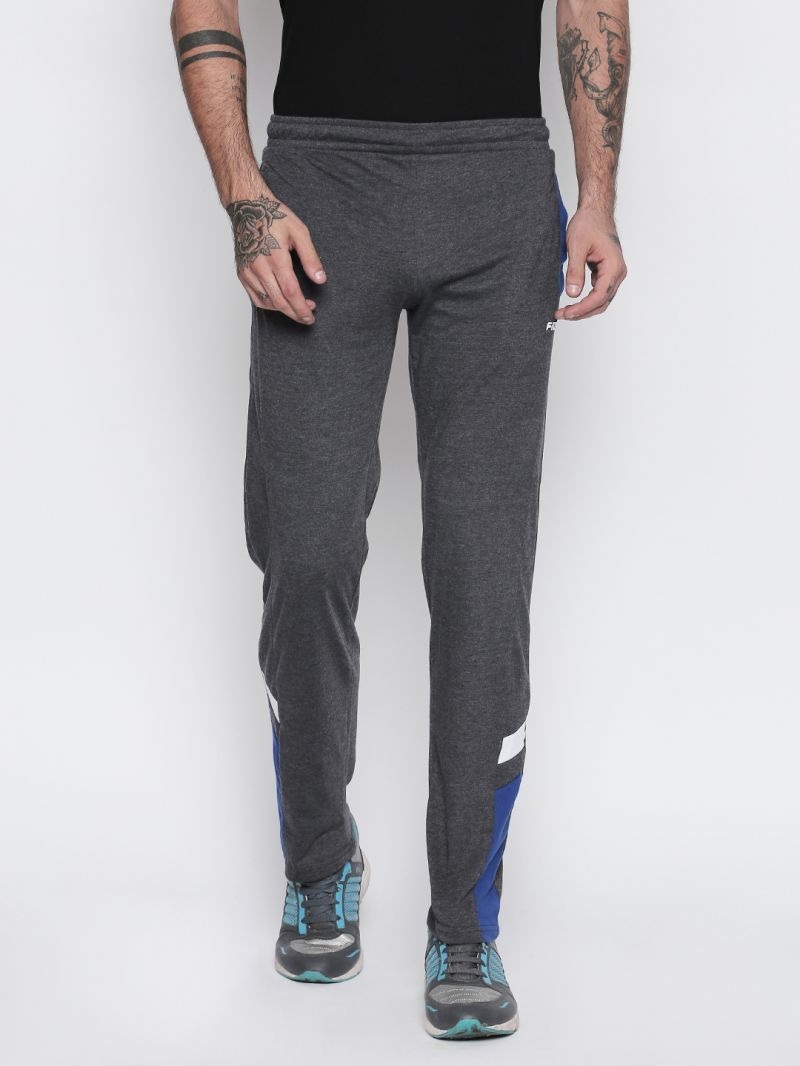 Buy Fitz Charcoal Trackpant For Mens online