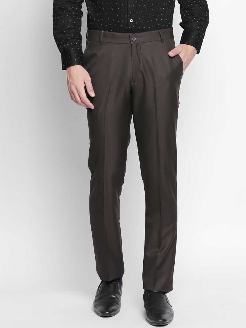 Buy Solemio Brown Trouser For Mens (code - S18tr3065ebr) online