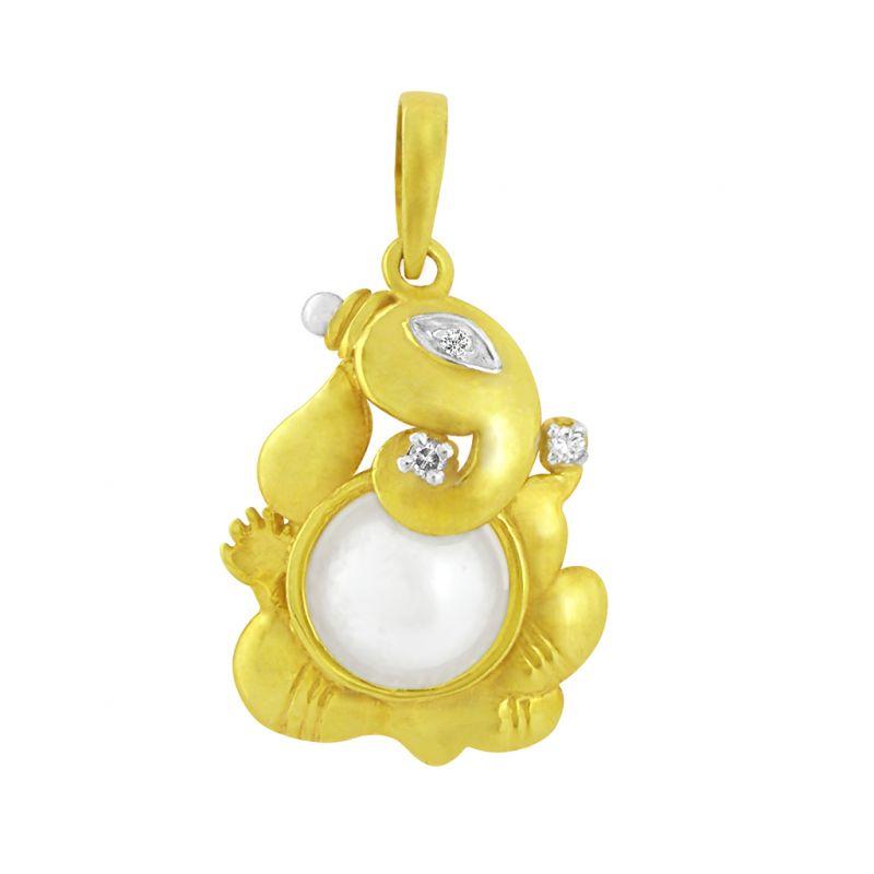 Buy Jpearls Gajakarna Diamond Pendant online