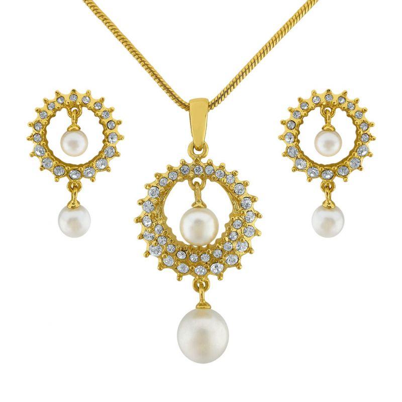 Buy Sri Jagdamba Pearls Sitara Pendant Set Code 8129 online