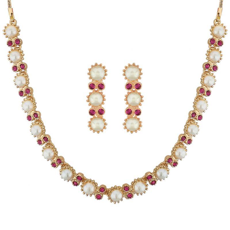 Buy Sri Jagdamba Pearls Glamorous Necklace Set Code 8797 online