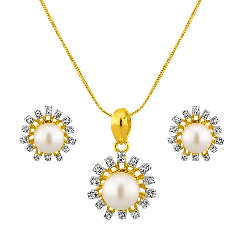 Buy Jpearls Sun Shine Pendant Set online