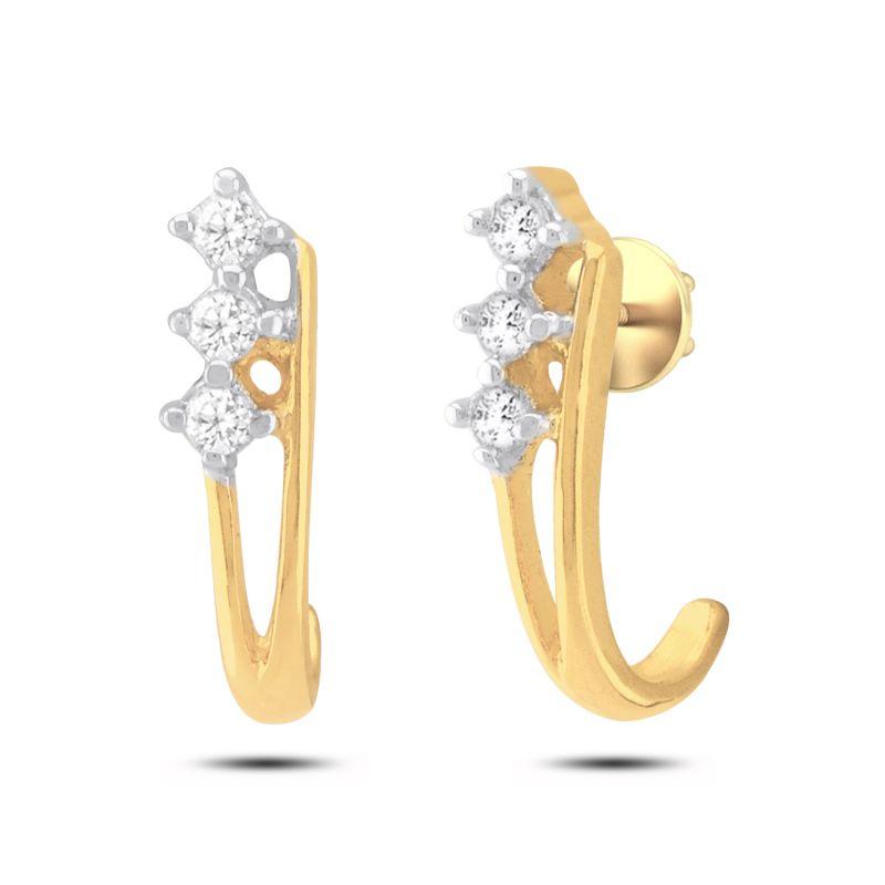 Buy Jpearls 18 Kt Gold Zaara Diamond Earrings online