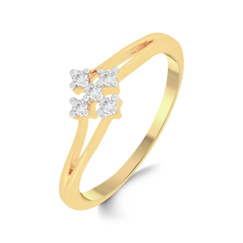 Buy Jpearls 18 Kt Gold Awesome Diamond Finger Ring online