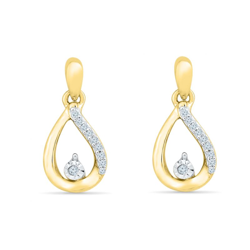Buy Sri Jagdamba Pearls Coriandrum Diamond Earring-ef021078 online
