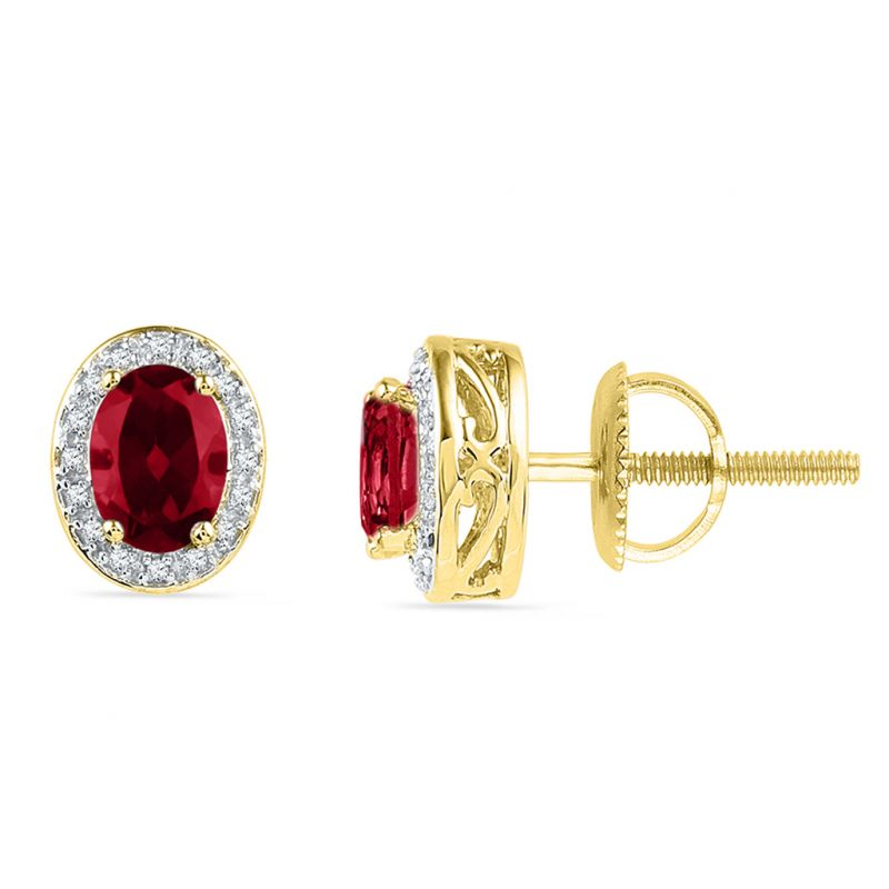 Jpearls Ruby Diamond Earrings Online