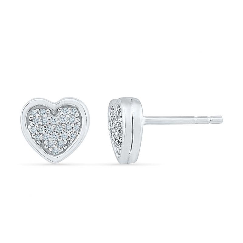 Buy Sri Jagdamba Pearls Love Heart Diamond Earring-eh077542 online