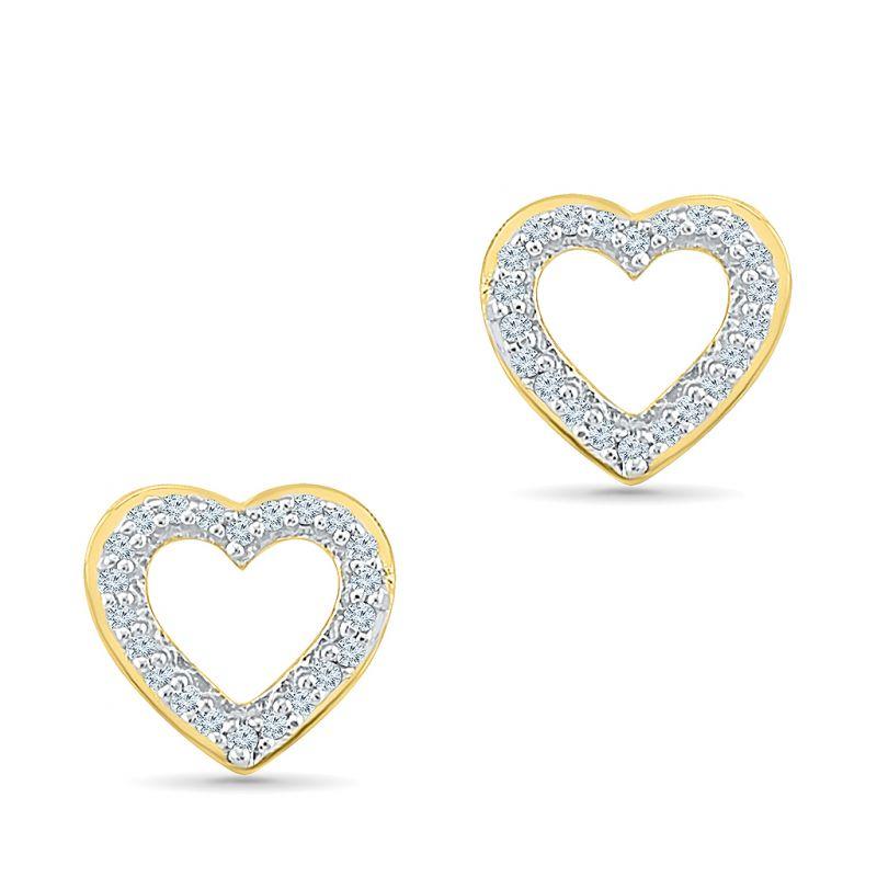 Buy Sri Jagdamba Pearls Heart Diamond Earrings-eh200482 online