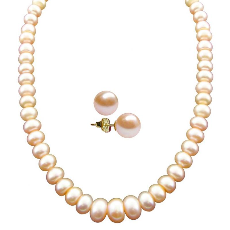 button p freshwater pearls drilled top strand peach lavender lavenderpeach