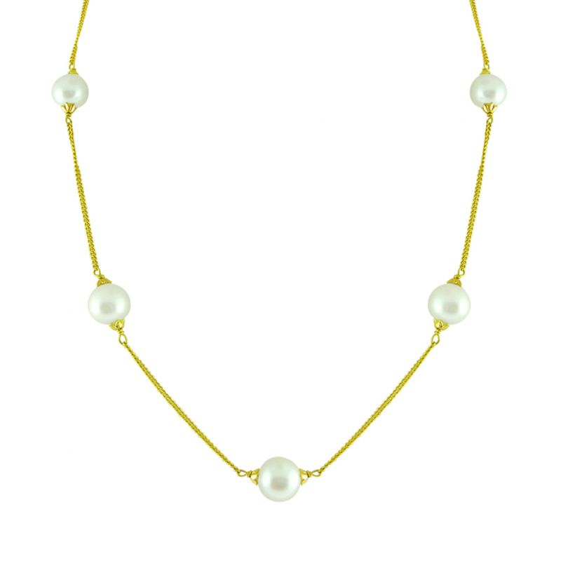Buy Jpearls Round Pearl Gold Chain online