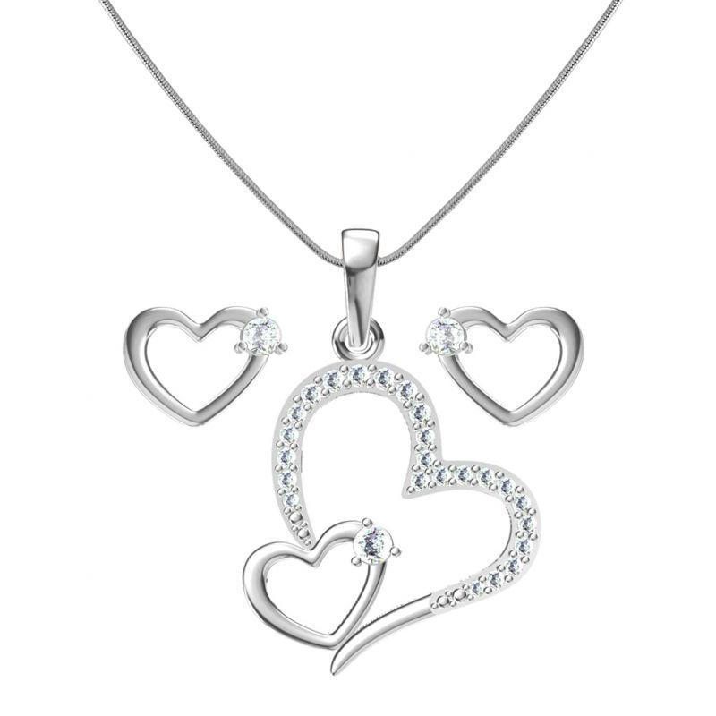 Buy Sri Jagdamba Pearls Heart In Heart Pendant Set -jp-jan 764_c online