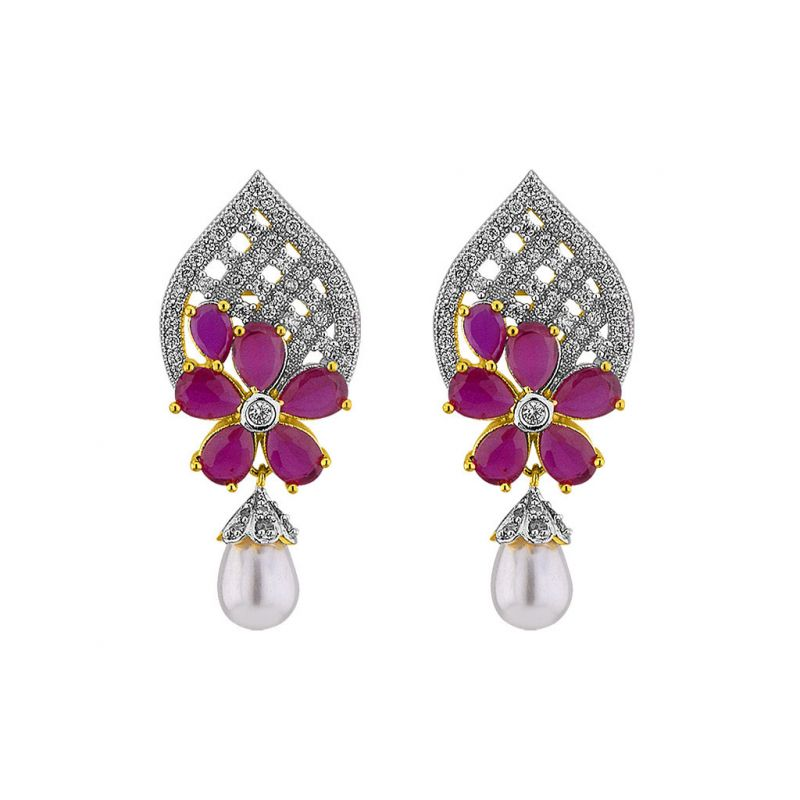 Buy Sri Jagdamba Pearls Vibrant Earrings online