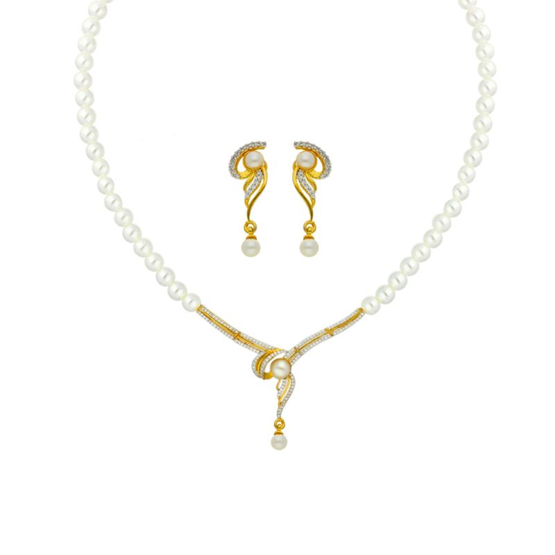 Buy Pearls Mangalsutra Necklace By Sri Jagdamba Pearls (jpapl-18-019 ) online