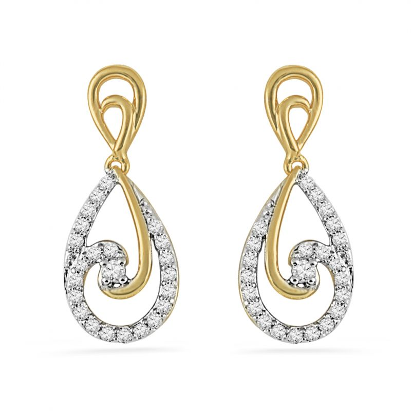 Buy Jpearls Auroral Diamond Earrings online