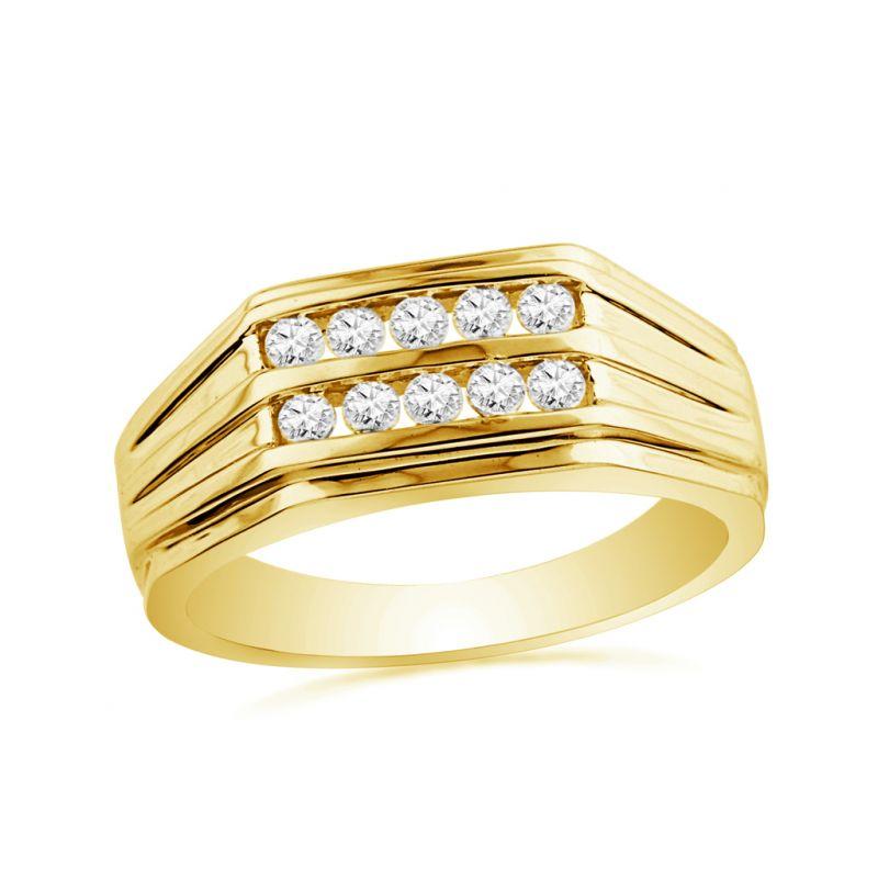 Buy Jpearls Sweet 3 Diamond Ring For Men Online | Best Prices in ...