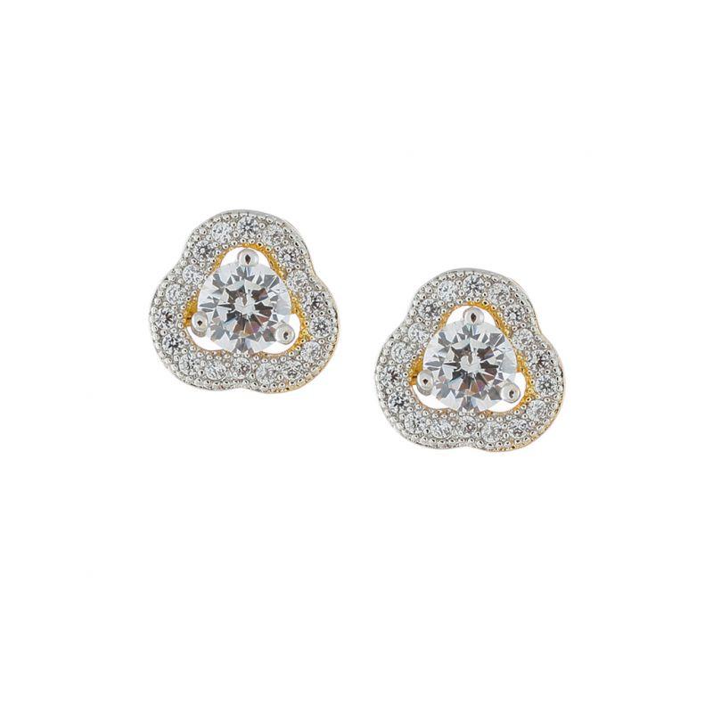 Buy Sri Jagdamba Pearls Flower Cz Earring-jpjan-17-028 online
