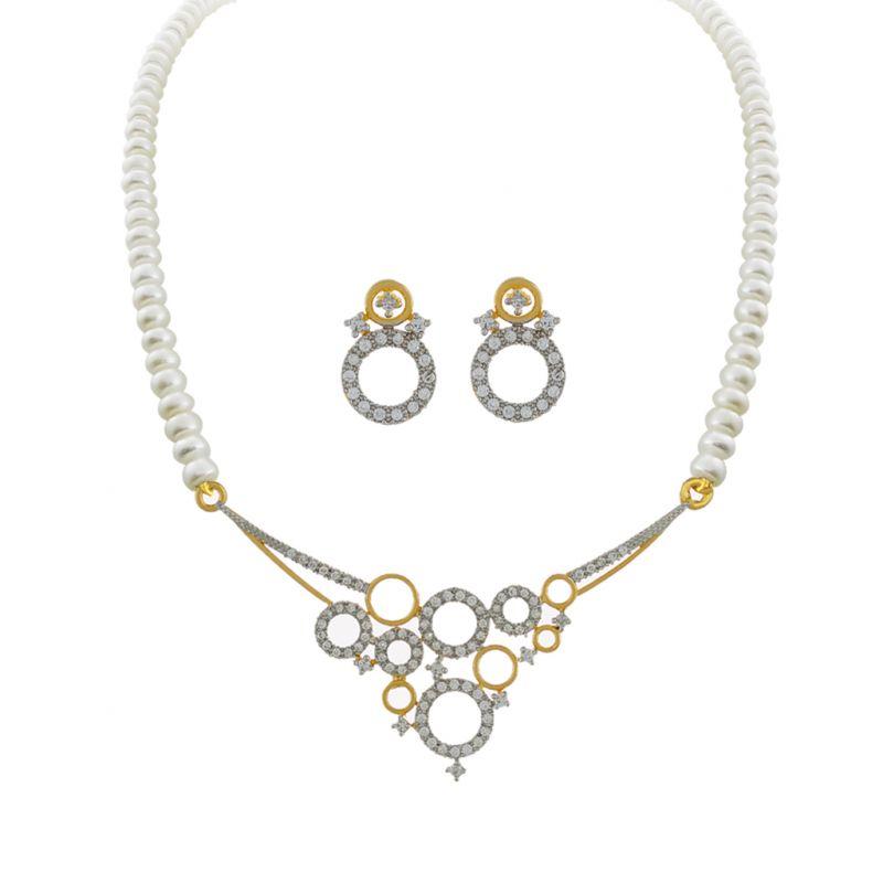 Buy Sri Jagdamba Pearls Roshale Pearl Set -jpjan-17-030 online