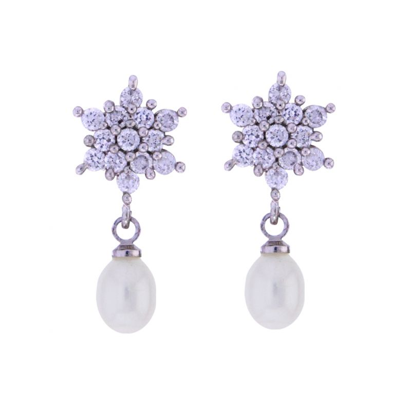 Buy Sri Jagdamba Pearls Shining Star Drop Earrings online