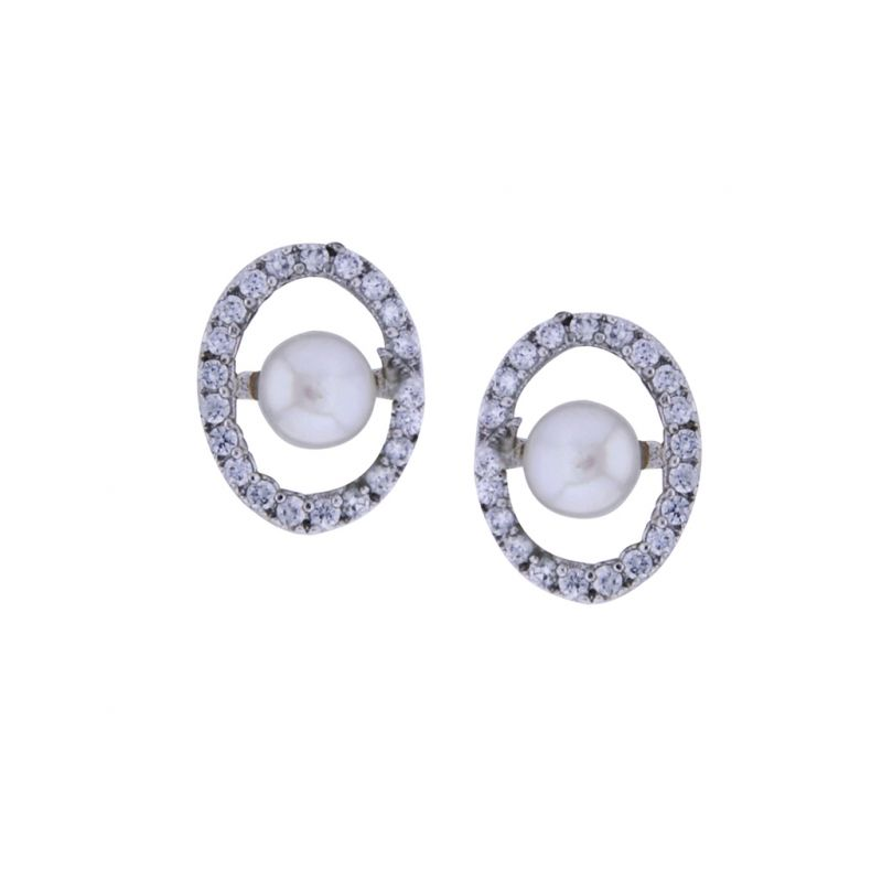 Buy Sri Jagdamba Pearls Designer Pearl Earrings online