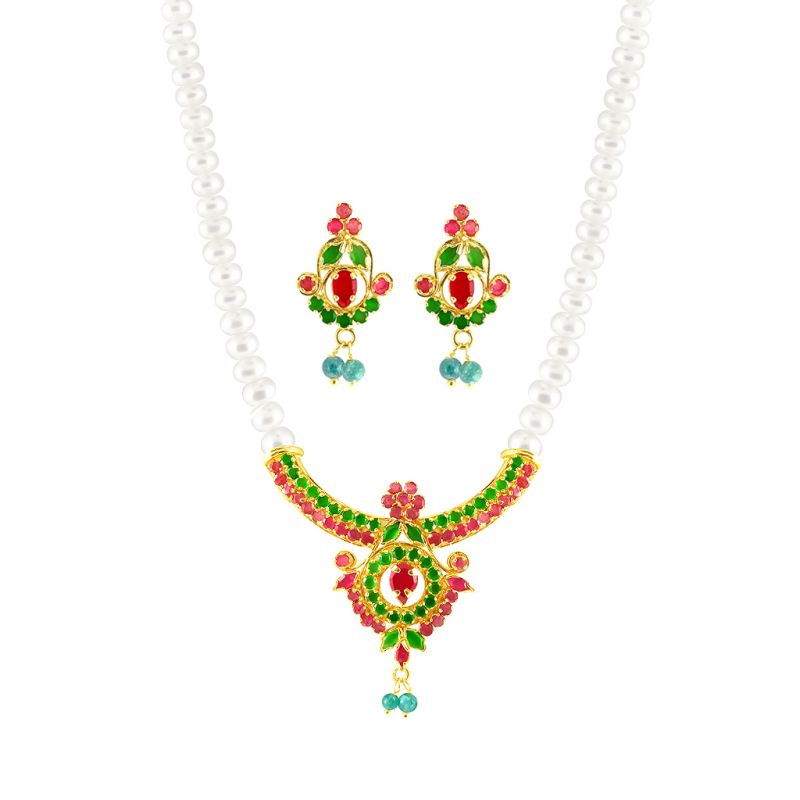Buy Jpearls Colourfull Pendent Set - Jpjn-6-749 online