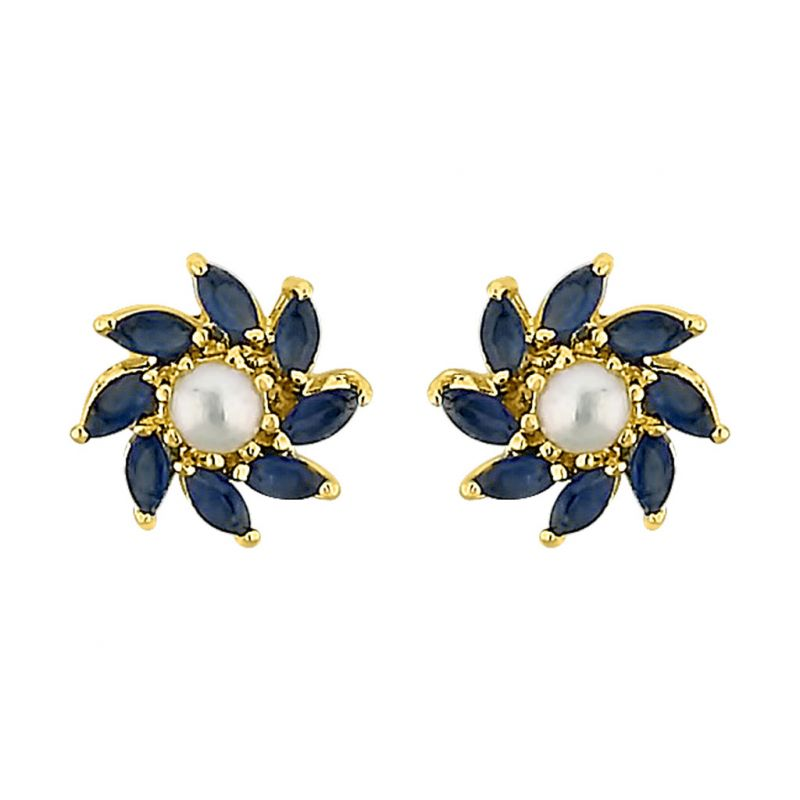Buy Sri Jagdamba Pearls Flower Pearl Earrings Code Jpjun-16-212 online