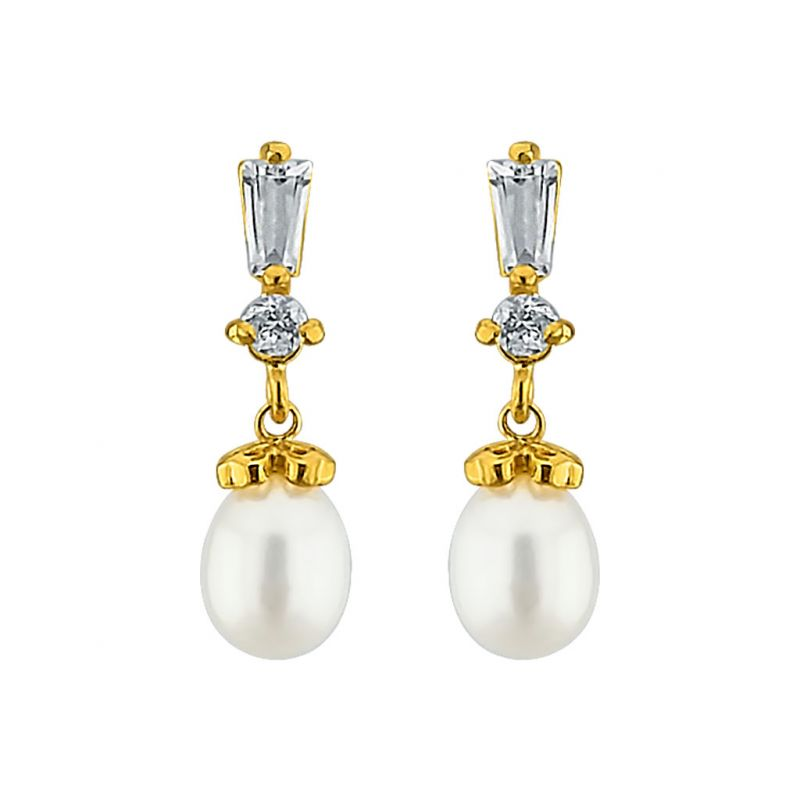 Buy Sri Jagdamba Pearls Zaara Pearl Earrings Code Jpjun-16-215 online