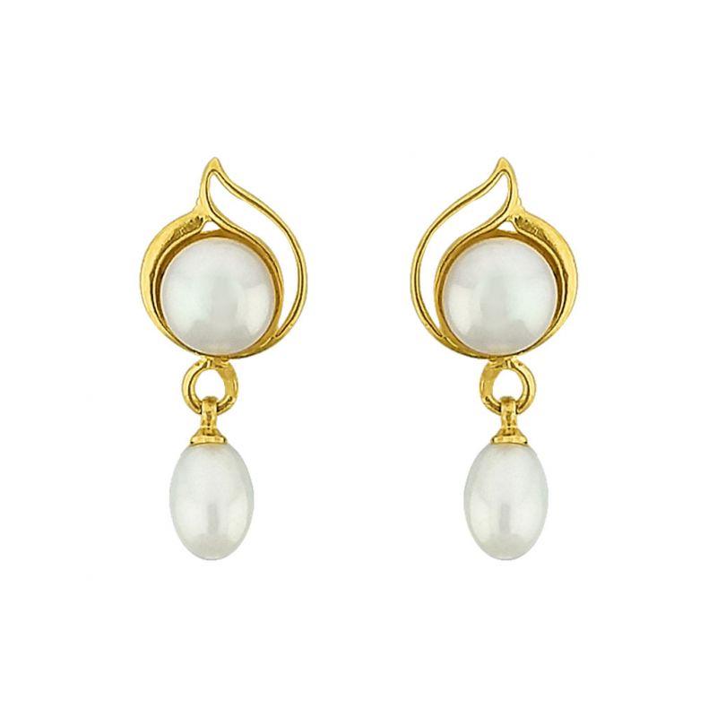 Buy Sri Jagdamba Pearls Lustrous Pearl Earrings Code Jpjun-16-224 online