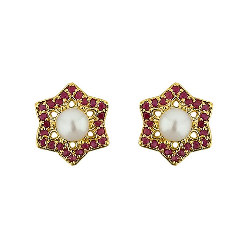 Buy Sri Jagdamba Pearls  Stary Pearl Earrings online