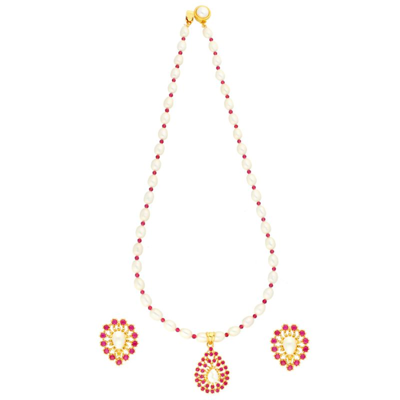 Buy Designer Necklace Set By Sri Jagdamba Pearls online