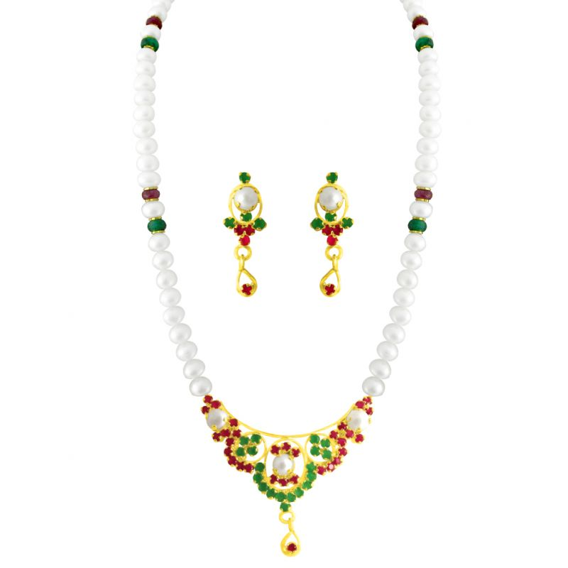 Buy Jpearls Incline Colourful Pearl Set online
