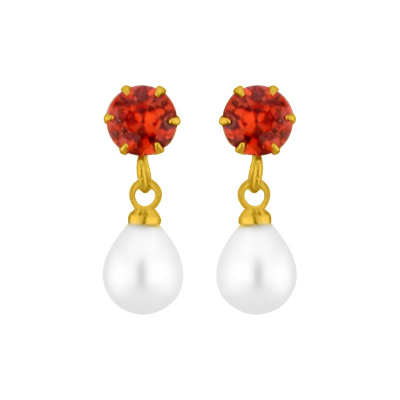 Buy Jpearls Redstone Pearl Earrings online