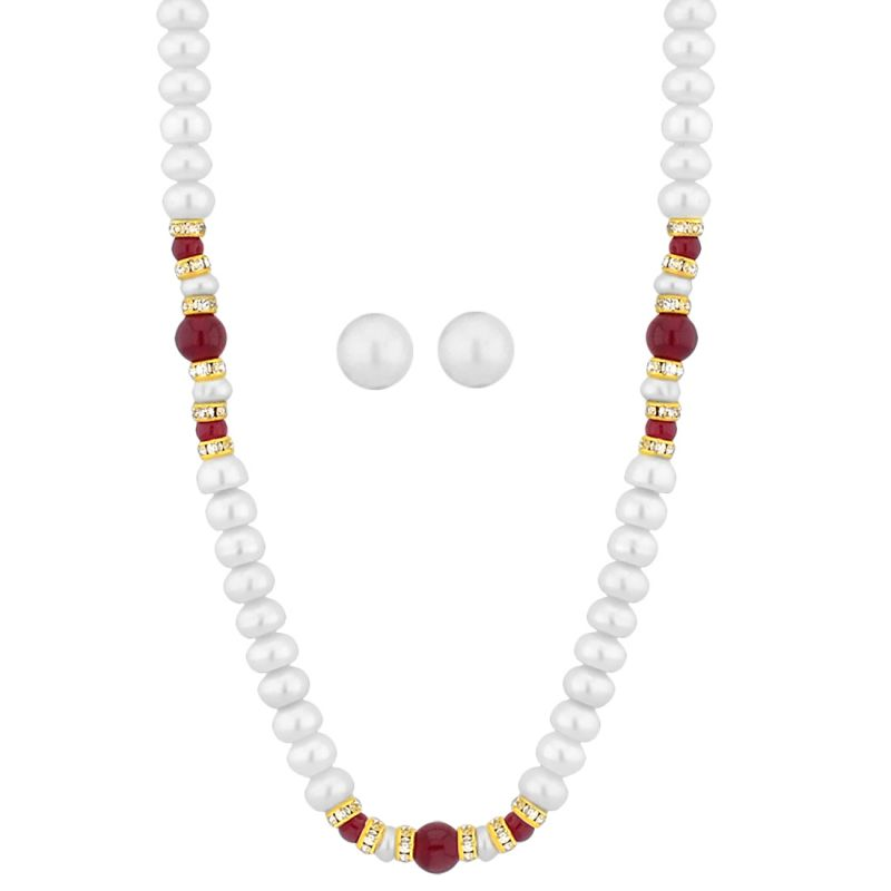 Buy Jpearls Button Pearl Necklace online