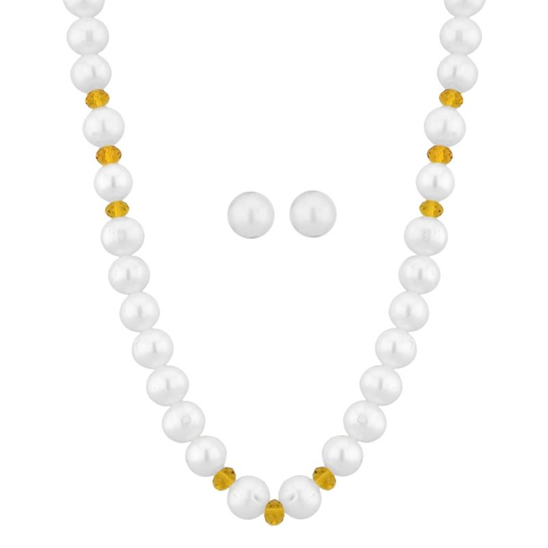 Buy Jpearls Crystal Pearl Necklace online