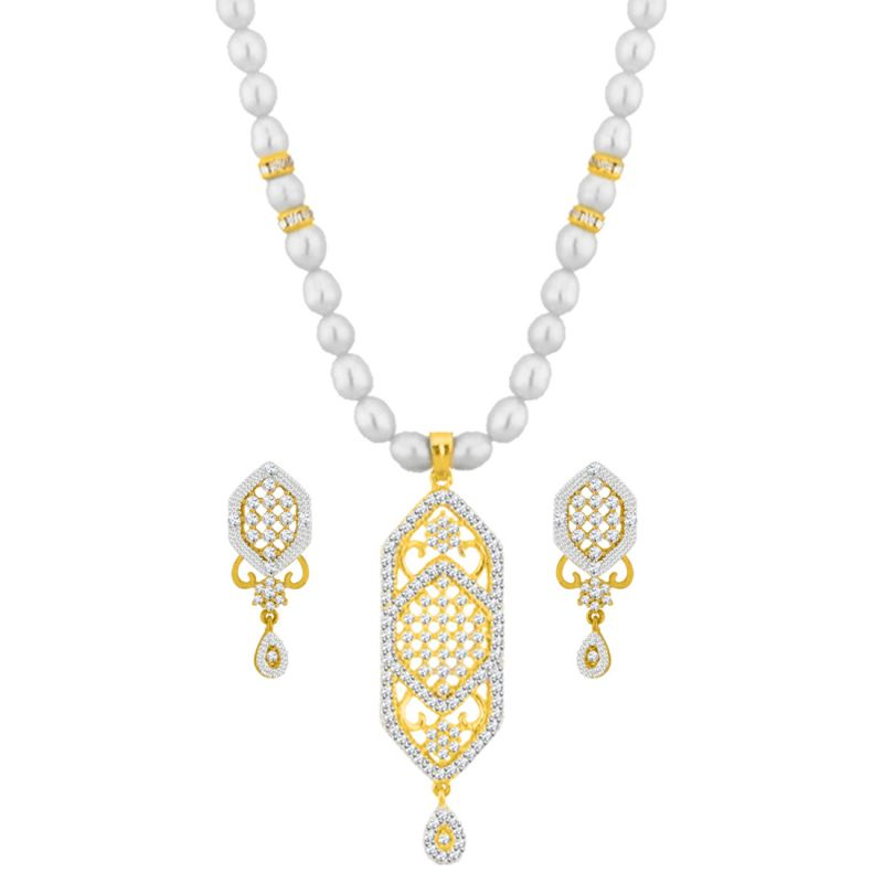 Buy Jpearls Lucky Cz Pendant Set online