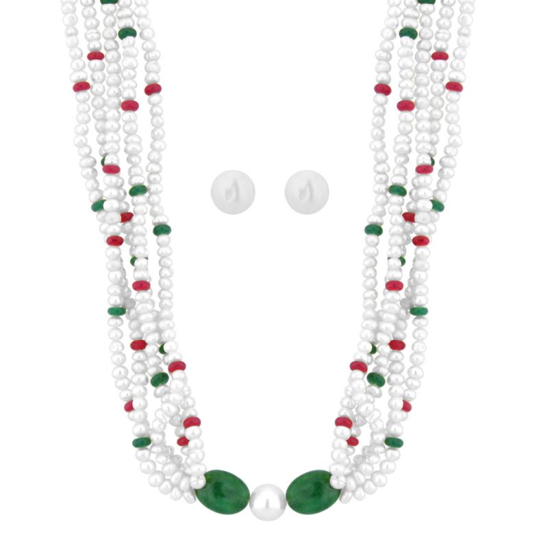Buy Jpearls Angelina Pearl Necklace Set online