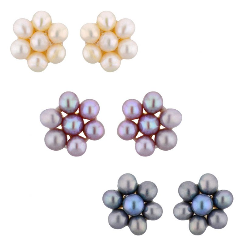 Buy Jpearls Set Of 3 Pair Pearl Earrings online