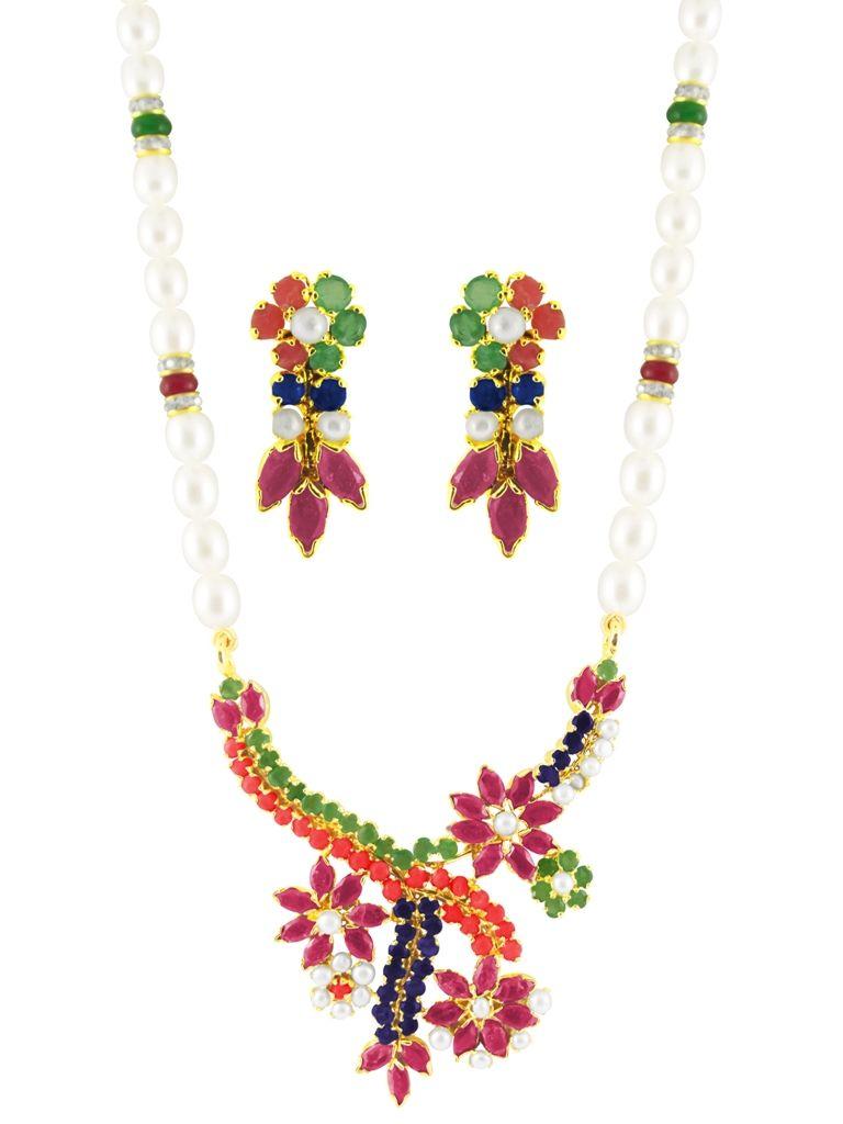 Buy Jpearls Flower Pendant Set online