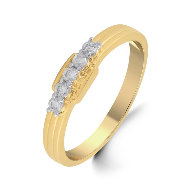 Buy Jpearls 18 Kt Gold Ziyaan Diamond Finger Ring online