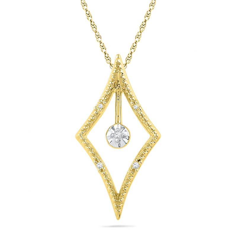 Buy Jpearls 18kt Gold Julie Diamond Pendant online